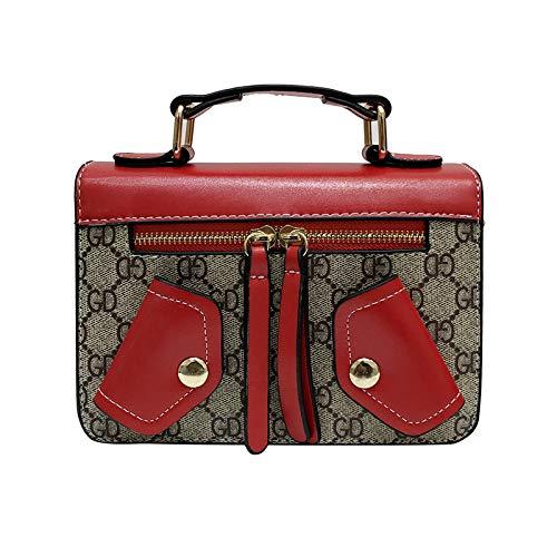 LFGCL Bags womenSmall Square Bag Wilde umhängetasche umhängetasche, rot