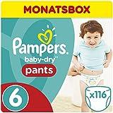 Pampers Baby Dry Pants Windeln Gr.6 (ab 15 kg), Monatsbox, 1er Pack (1 x 116 Stück)