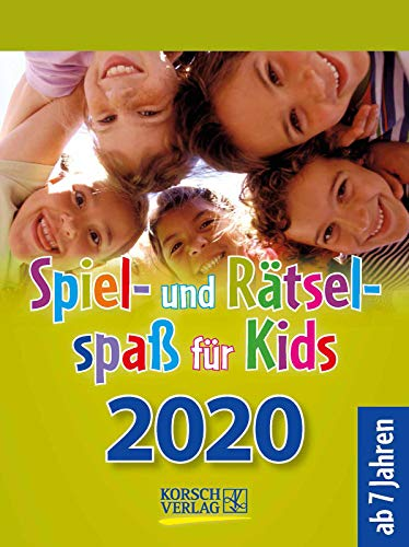 Spiel- und Rätselspaß für Kids 2020: Aufstellbarer Tages-Abreisskalender für Kinder mit Rätseln und Spielen I 12 x 16 cm