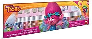 Multiprint Trolls - Juegos de Sellos para niños (Multicolor, Caucho, Madera, 3 año(s), Italia, 860 mm, 30 mm)
