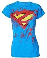 Darkside Super Zombie Womens Blue Tshirt Superman