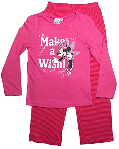 Minnie Mouse Kollektion 2015 Pyjama 92 98 104 110 116 122 128 Schlafanzug Nachtwäsche Lang Fee Maus Rosa (110-116) - Barbie-kollektion 2015