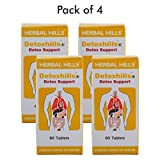 Herbal Hills Detoxhills 60 Tablets - (Pack of 4) - Advanced Colon Cleansing