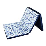 #8: Sleepezee's Foldezee Folding Mattress Single Bed Size Foam Light blue Floral Print (72
