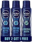 #4: Nivea Fresh Active Deodrant, 150ml (Buy 2 Get 1 Free)