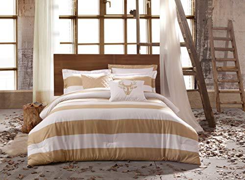 Kensie Delilah Cabana Stripe Bettwäsche-Set für Doppelbett/Queen, Mehrfarbig -