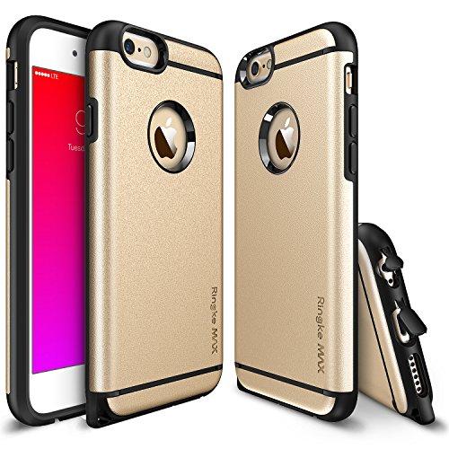 Cover per iPhone 6/6S in plastica dura con rivestimento Ultra-Resistente (Oro) + Pellicola protettiva per lo schermo.
