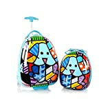 Heys Britto Brand New Exclusive Designed Blue Dog Kids 2 Piece Luggage Set Luggage 18 Inch and Backpack 15 Inch (Blue)