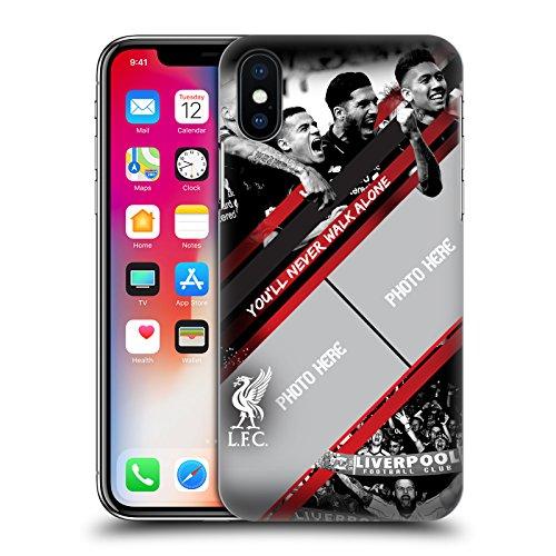 Personalizzata Personale Liverpool Football Club Gol Rosso Liverpool FC Cover Retro Rigida per Apple iPhone X Gol Rosso