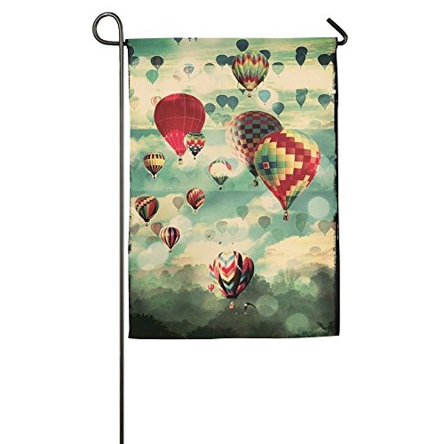 (DFGTLY Fashion Personalized Garden Flag,Colorful Ballon Garden Flag-12