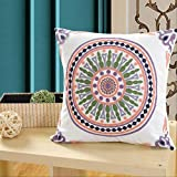 Embroidered Cotton Embroidery Pillow Cushion Pillow Home Fabric 45 * 45cm with pillow Pink