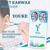 Limpiador de oídos Swab, Easy Earwax Removal Soft Spiral Cleaner, con 16...