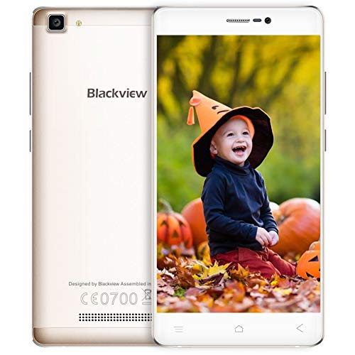 "Telefono Cellulare in Offerta, Blackview A8 MAX Dual SIM Smartphone, 2GB + 16GB ROM 3000mAh Batteria IPS 5.5"" HD Camera 5 + 8M 4G Smartphone in Offerta, Android 6.0/ GPS/WiFi/ Bluetooth 4.0/ FM- Oro"