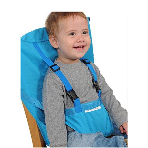 Uni Beste Baby Tragbare Hochstuhl Reise Sitze Abdeckung Kleinkind Sicherheit Hochstuhl Infant Sack Gürtel Fütterung Booster Sitzgurt (blau) - Sitzgurt Gürtel