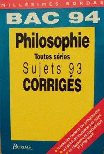 C4 COR.BAC 94 PHILO (Ancienne Edition) par Collectif