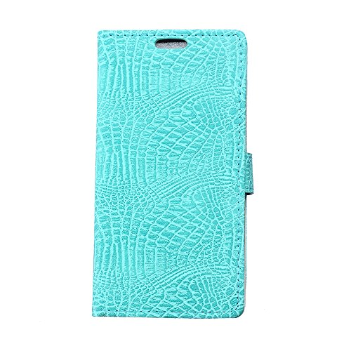 CaseforYou Hülle iphone X Schutz Gehäuse Hülse Crocodile Grain PU Leather Case Flip Stand Cover Wallet Card Holders with Magnetic Closure Schutzhülle für iphone X Handy (White) Green