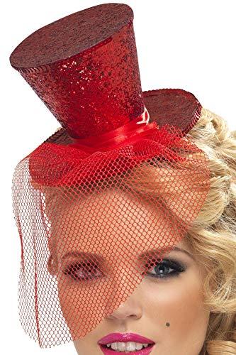 Smiffys Fever Damen Mini Hut auf Haarreif, One Size, Rot, 21298