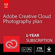 Adobe Creative Cloud Photography plan with 1TB: Photoshop CC + Lightroom CC | 1 Year Licence | Online Code & Download