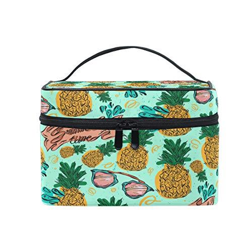 Ananas Sonnenbrillen Kosmetiktasche zum Aufhängen, Kulturbeutel, Obstbeutel, tragbar, große Kapazität, für Reisen, Make-up, Aufbewahrungstasche für Mädchen und Frauen im Freien