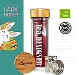 TEA TO GO - Trinkflasche GLAS - BPA FREI 450ml Thermo-Go - Teebereiter - Tee-Glas - Tea-Maker mit...