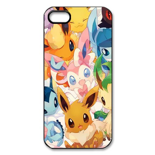 EtuiCoque de protection pour iPhone 5S, iPhone 5 Case, coque pour iPhone 5 5S , Motif Pokémon Pikachu Designs Back Case Cover For Apple iPhone 5 5S, Apple iPhone 5s Coque de protection C