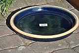 Untersetzer,blau,Steingut,35cm,auch als Vogeltränke nutzbar
