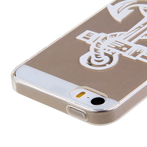 iPhone SE Hülle,iPhone 5S Hülle,iPhone 5 Hülle, iPhone SE / 5S / 5 Silikon Crystal Case Hülle mit Malerei Muster, SainCat Weiche Transparent Silikon Schutzhülle Hülle Gel Bumper Soft TPU Case Backcase Anchors