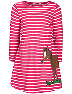 zoolaboo, Jersey-Kleid Mädchen PFERD MIT KLEE