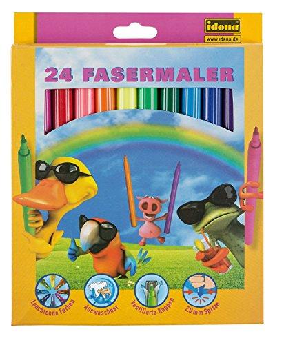 Idena 621468–Rotuladores 24unidades, punta de 2mm, multicolor