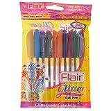 #8: Flair Glitter Gelpen (Set Of 10 Colors)