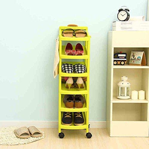 G-Y Green Plastic Schuh Rack Sechs - Layer Schuhe Storage Frame Kombination Vertikale Schuh Schrank Schuhregal (Kleiderschrank Frames)