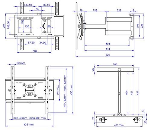 test ricoo wandhalterung tv schwenkbar neigbar r23 universal lcd wandhalter ausziehbar fernseher. Black Bedroom Furniture Sets. Home Design Ideas