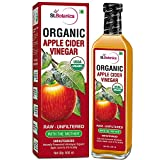 #1: StBotanica USDA Organic Apple Cider Vinegar With The Mother - Raw, Unfiltered, UnPasteurized - 500ml (Glass Bottle)