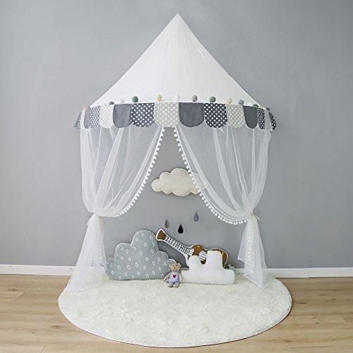 TING- Kinder Zelte Baumwolltuch Interieur Spielzelte weiß nordischen Stil weiß Jungen Mädchen Indoor Spaß lesen Baby Game House, ohne Zubehör ( Farbe : #A , größe : L )