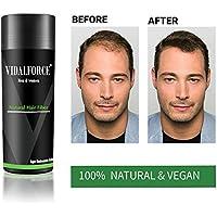VidalForce Fibras Capilares Totalmente Naturales 27,5 gr/Gris Oscuro /