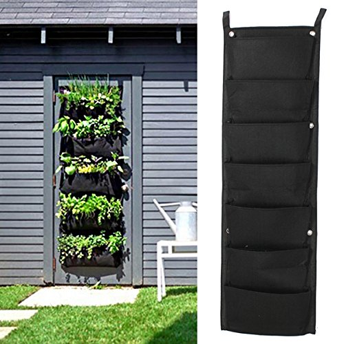 Bluelover 7 tasca Indoor Outdoor Wall Hanging Planter borse pianta crescere borse