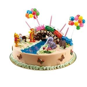 Winnie l 39 ourson set d corations pour g teaux avec train - Decoration winnie l ourson pour bapteme ...