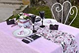 Tisch-Läufer/Tisch-Decke Pastell-Farben mit Blumen-Motiv Rosen rosa grün weiß/Tisch-Deko-Ration/Tisch-Wäsche Stoff Boho Vintage 1 Rolle = 5 Meter - 2
