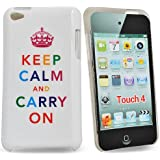 Image of Accessory Master E80 Cover for Apple iPod Touch 4 'Keep calm and carry one' Theme White - Comparsion Tool