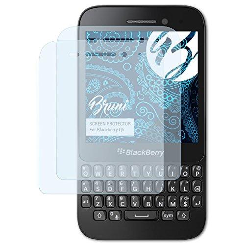 Bruni Schutzfolie für BlackBerry Q5 Folie, glasklare Bildschirmschutzfolie (2X)