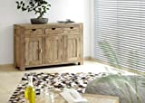 Wolf Möbel Massivholz Kommode 3 Türen und 3 Schubladen aus Shisham Yoga