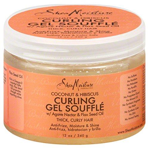 Shea Moisture Organic Curling Souffle Gel Coconut & Hibiscus 12 oz 340g