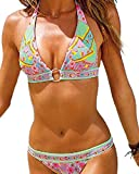 Toaho Damen Sexy Beach Floral Strand Badeanzüge Push Up Bikini sets Bademode Swimwear Swimsuit
