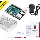 Raspberry Pi 3 Starter Kit avec Raspberry Pi 3 Modèle B par Noza Tec, Dissipateur et Alimentation Electrique