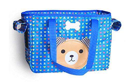 Fully Hundetasche Tragetasche Katzentasche Welpe Tasche Handtasche Haustier Transporttasche Toptür Seitentür 37x18x26cm (37x18x26cm, Blau) Blaue Jack Hundefutter