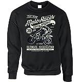 Tim And Ted Motorradfahrer Unisex-Pullover Klassische Moto Racer Captial Speedway Kunst Black XX-Large