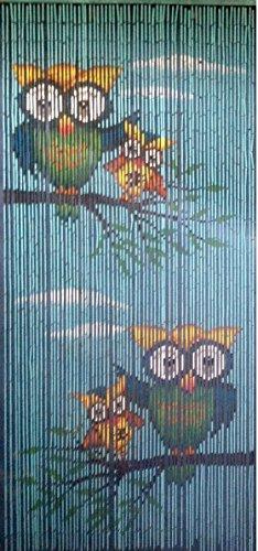 ABC home Türvorhang Eulen Raumteiler Sichtschutz Insektenschutz Spanischer Vorhang 90x200cm Fliegenvorhang Dekovorhang Wohnwagen Wohnmobil Balkonvorhang