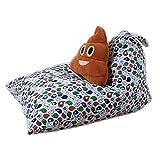 MRXUE Kinder Plüsch Weiche Spielzeug-Aufbewahrungstasche Bohnenbeutel, Große Perfekte Speicherlösung 65 * 95 * 55 cm Blauer Vogel