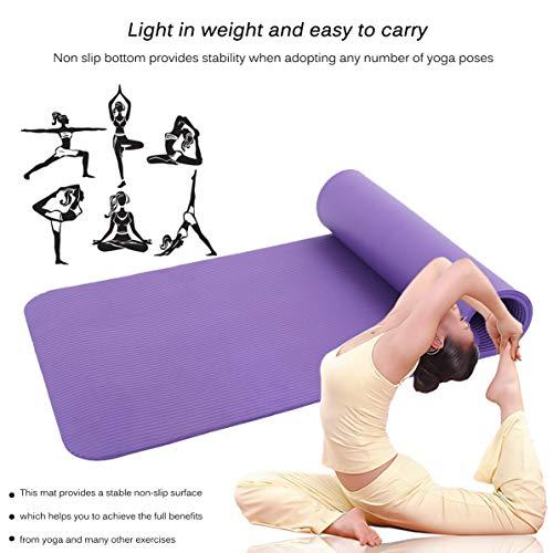 corneliaa tappetino per il fitness comodo antiscivolo per il fitness pad universale per tappetino antiscivolo physi pilates 183x61x1.5cm antiscivolo