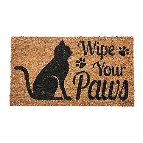 Wipe Your Paws Cat Welcome Coir Door Mat